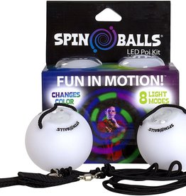 Fun in Motion Spin balls LED Poi Kit