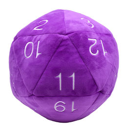 Ultra PRO Jumbo D20 Novelty Dice Plush: Purple with White Numbering