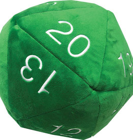 Ultra PRO Jumbo D20 Novelty Dice Plush - Green with White