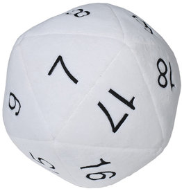 Ultra PRO Jumbo D20 Novelty Dice Plush - White with Black