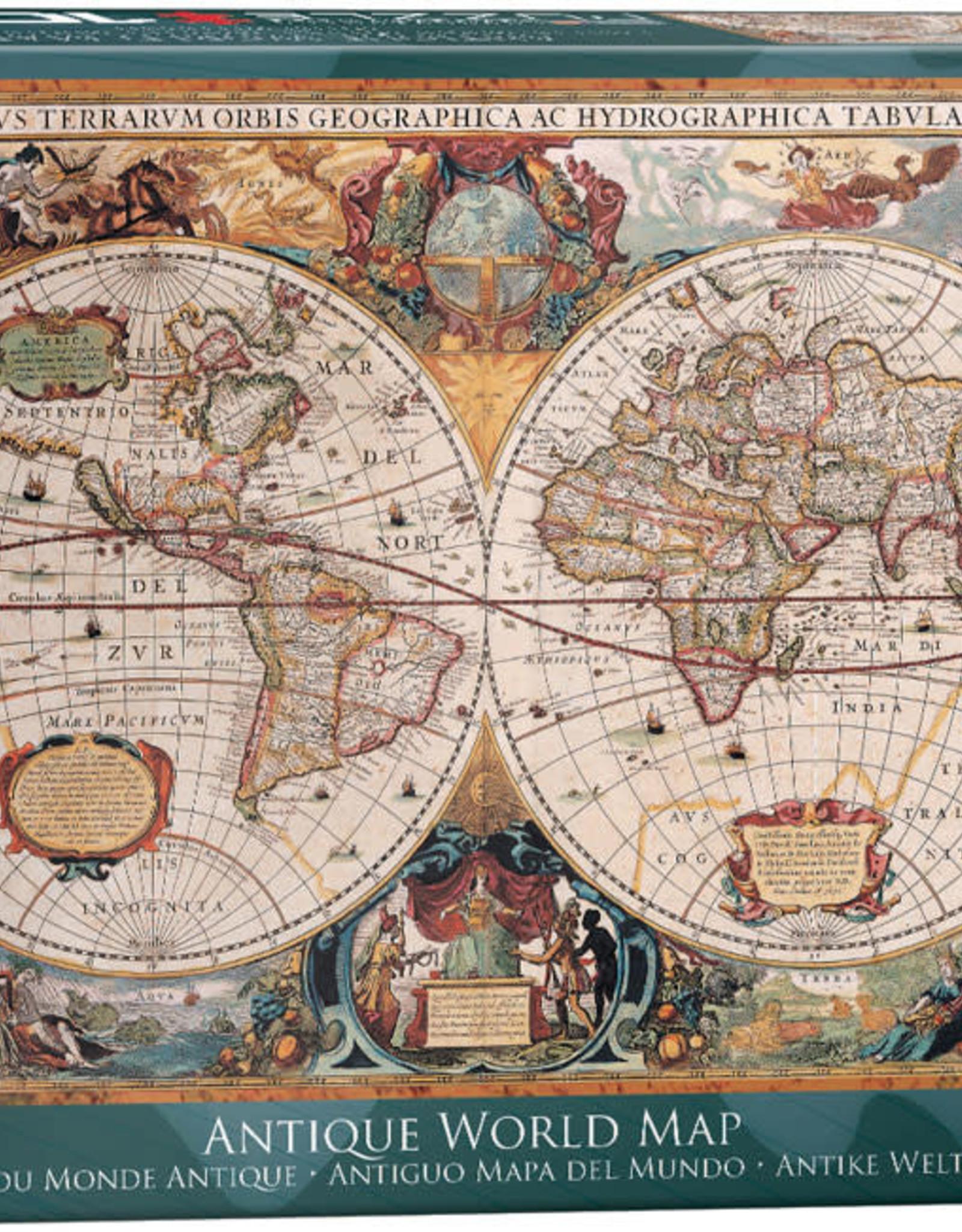 EuroGraphics Antique World Map 1000pc Puzzle