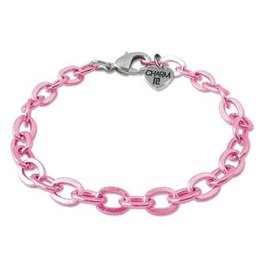 Charm It Pink Chain Bracelet