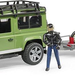 Bruder Land Rover Station Wagon with trailer, Scrambler Ducati Cafe