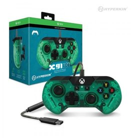 Hyperkin X91 Wired Controller For Xbox Series X/ Xbox Series S/ Xbox One/ Windows 10 PC - (Aqua Green) Officially Licensed By Xbox