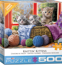 Eurographics Inc Knittin' Kittens 500pc Puzzle