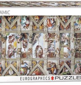 Eurographics Inc Sistine Chapel Ceiling 1000pc Panoramic Puzzle