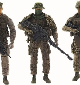 Elite Force Marines 5 Pack Military Action Figures
