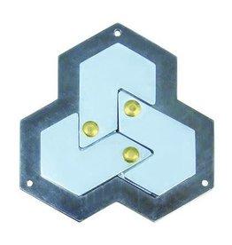 Bepuzzled Hexagon -Hanyama Cast Metal Puzzle  Level 4