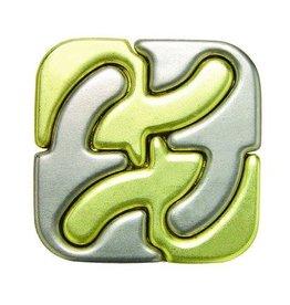 Bepuzzled Square -Hanyama Cast Metal Puzzle  Level 6