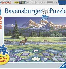 Ravensburger Mountain Quiltscape 300pc Puzzle
