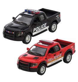 Schylling Ford F-150 SVT Raptor Police and Fire