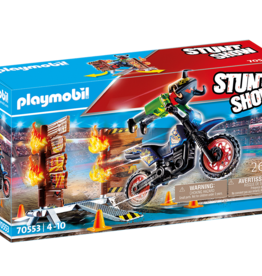 Playmobil Playmobil Stunt Show Motocross with fiery Wall