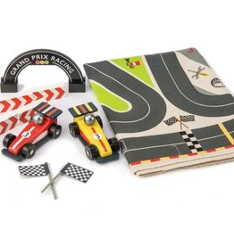 Tender Leaf Toys Formula One Racing Tracks Playmat