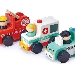 Tender Leaf Toys ABC CARS-Emergency Vehicles