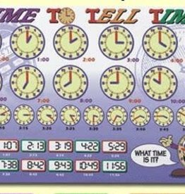 Painless Learning Products Time to Tell Time Learning Mat