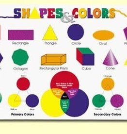 Painless Learning Products Shapes and Colors  Learning Mat