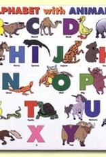Painless Learning Products Alphabet with Animals  Learning Mat