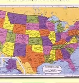 Painless Learning Products United States Map Learning Mat