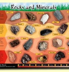 Painless Learning Products Rocks and Minerals Learning Mat