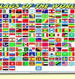 Painless Learning Products World Flags Learning Mat