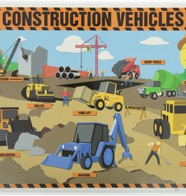 Painless Learning Products Construction Vehicles Learning Mat