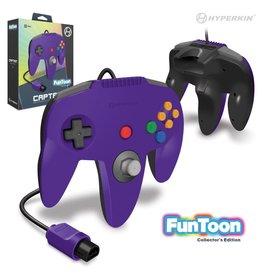 "Hyperkin ""Captain"" Premium Controller For N64 Funtoon Collector's Edition (Rival Purple)"
