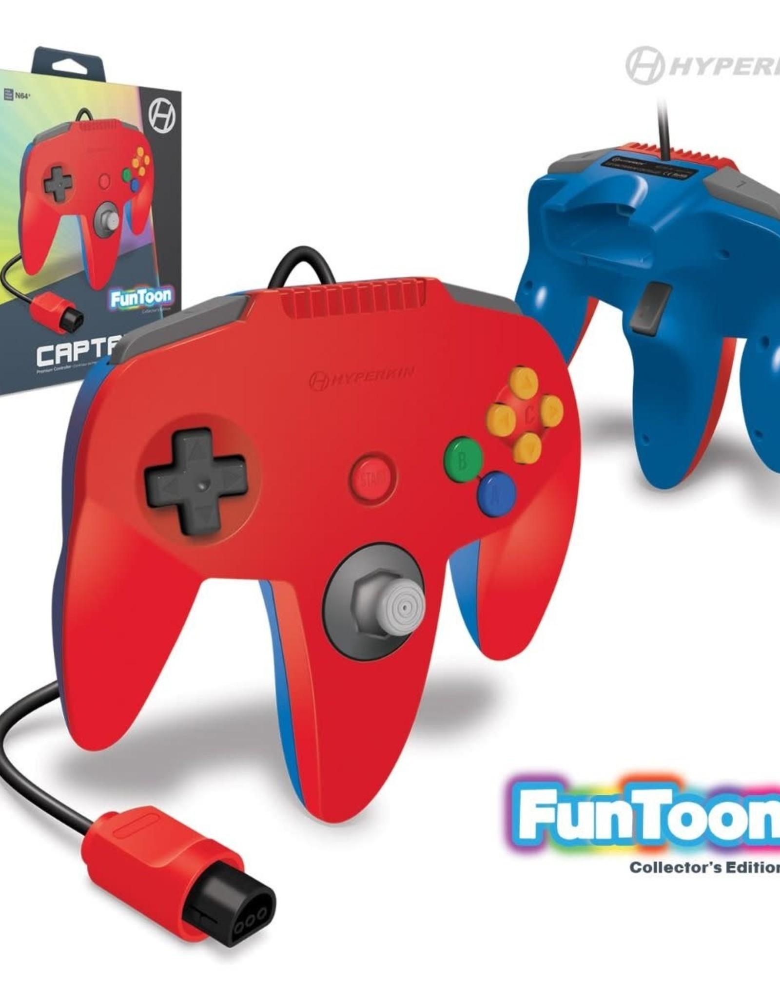"Hyperkin ""Captain"" Premium Controller For N64 Funtoon Collector's Edition (Hero Red)"