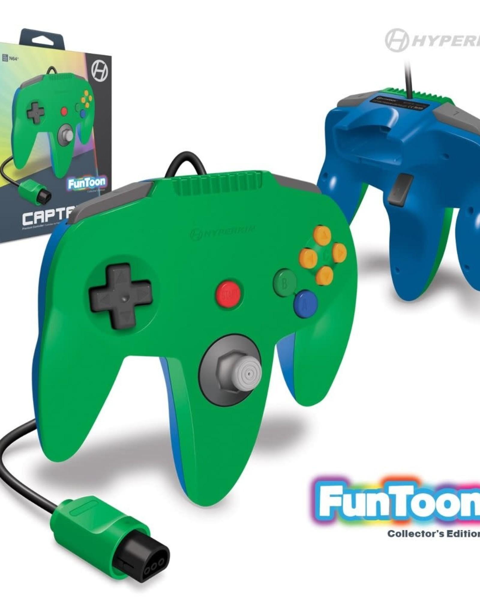 """Hyperkin """"Captain"""" Premium Controller For N64 Funtoon Collector's Edition (Hero Green)"""