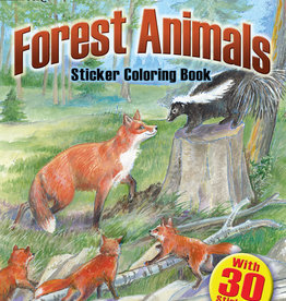 Dover Publications Forest Animal Sticker Coloring Book
