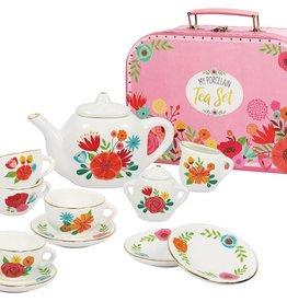 Bright Stripes My Porcelain Tea Set Carry Case