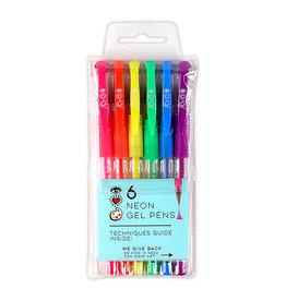 I Heart Art 6 Neon Gel Pens
