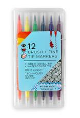 I Heart Art 12 Brush Tip + Fine Tip Markers