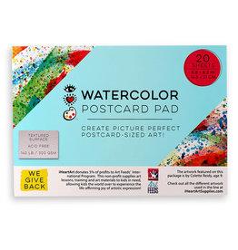 I Heart Art Watercolor Postcard Pad