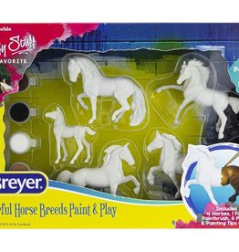 Breyer Colorful Horse Breeds Paint & Play