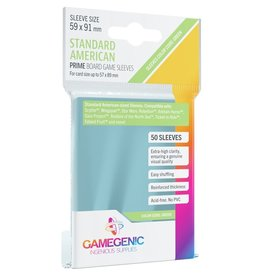 Gamegenic Prime Standard American-Sized Sleeves Green (50)