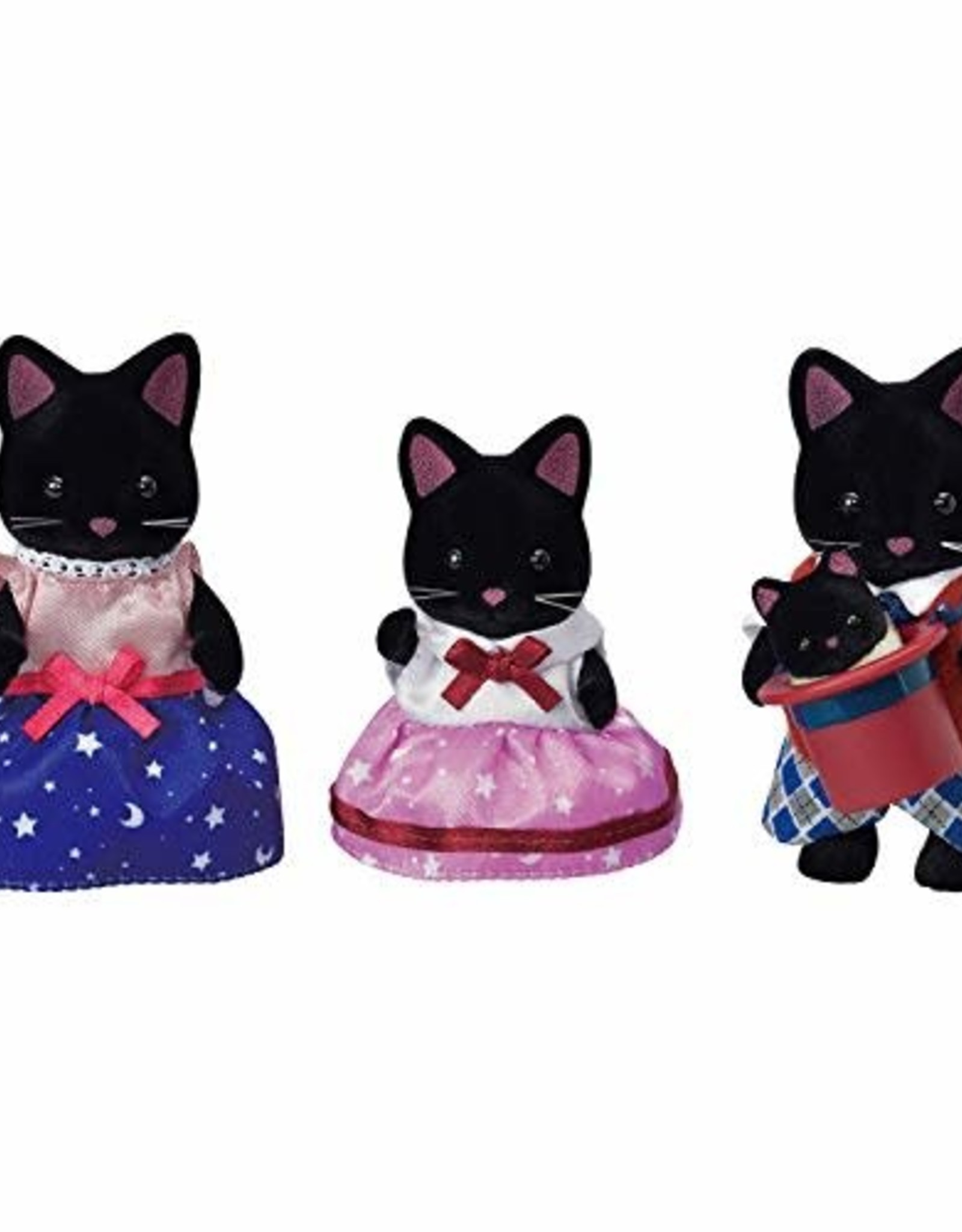 Calico Critters: Midnight Cat Family