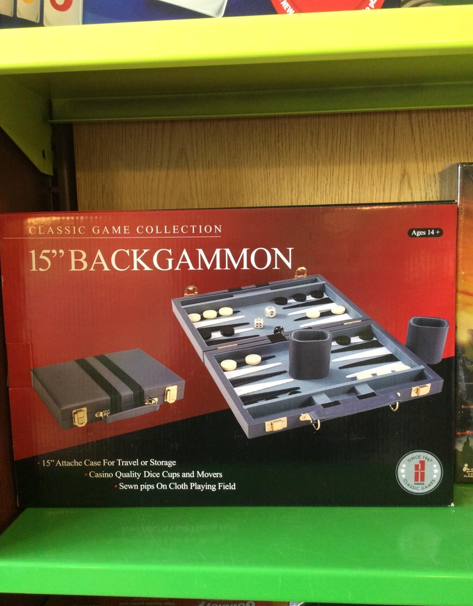 """John Hansen 15"""" Backgammon Attache"""