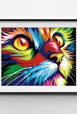 Winnie's Picks Abstract and Modern Colorful Cat Paint by Number
