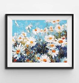 Winnie's Picks Field of Daisies Paint by Number