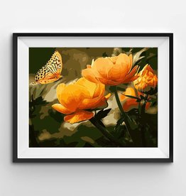Winnie's Picks Peach Butterfly in the Summer Paint by Number