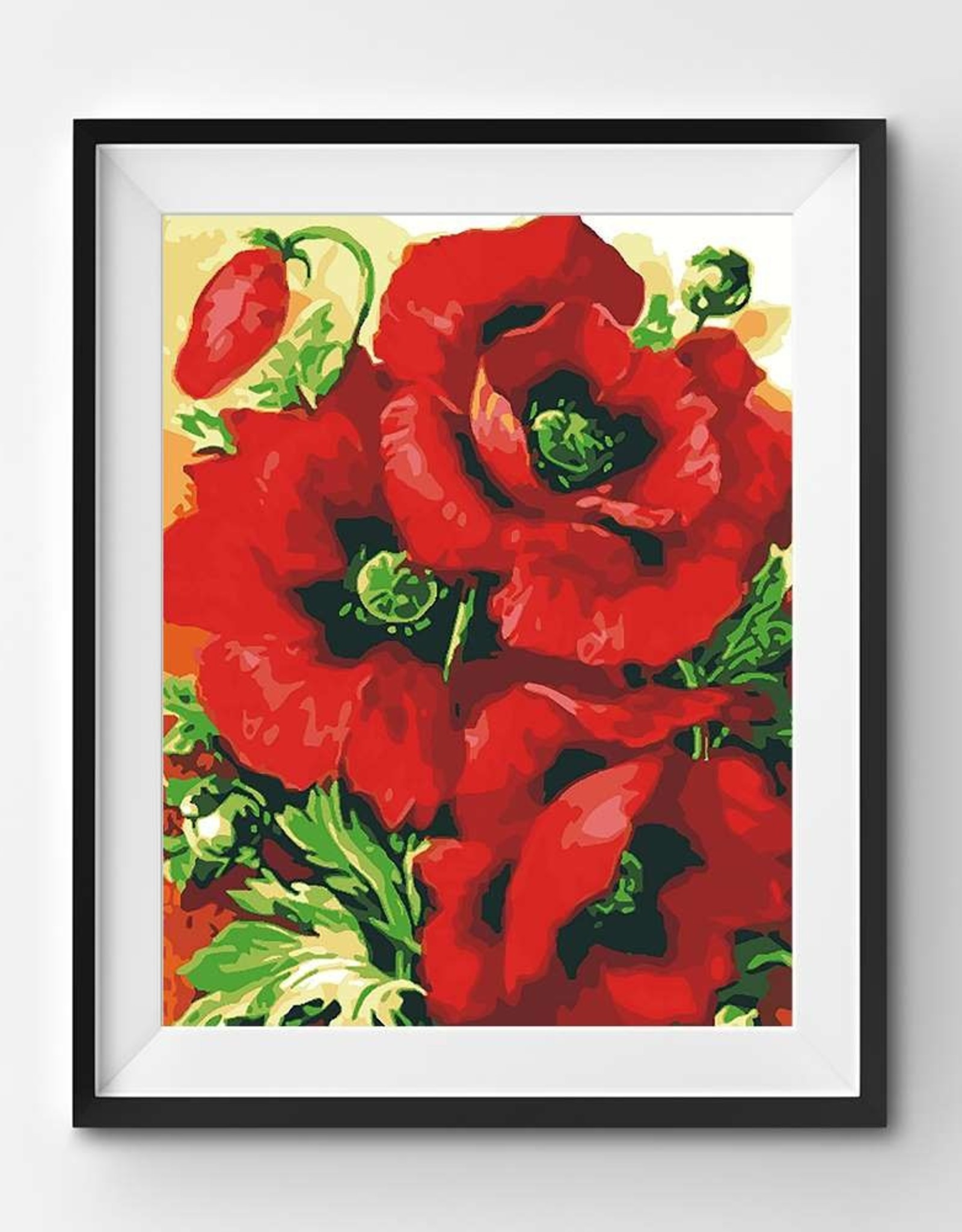 Winnie's Picks Beautiful Red Poppies Paint by Number
