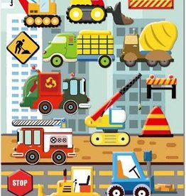 bcmini Nekoni Puffy Construction  Stickers