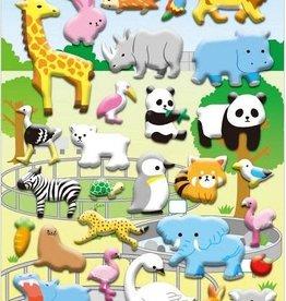 bcmini Nekoni Zoo Puffy Sticker