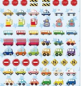 bcmini Nekoni Tiny Car Puffy Stickers