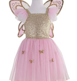 Great Pretenders Gold Butterfly Dress & Wings, Size 5-7