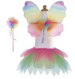 Great Pretenders Neon Rainbow Tutu With Wings & Wand Size 4-6