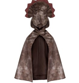 Great Pretenders Triceratops Hooded Cape, Brown, Size 4-5