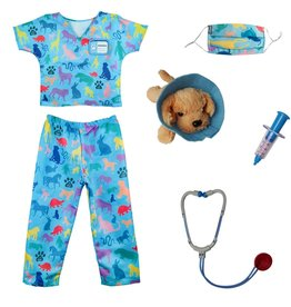 Great Pretenders Vetrinarian Scrubs with Accessories, Size 5-6