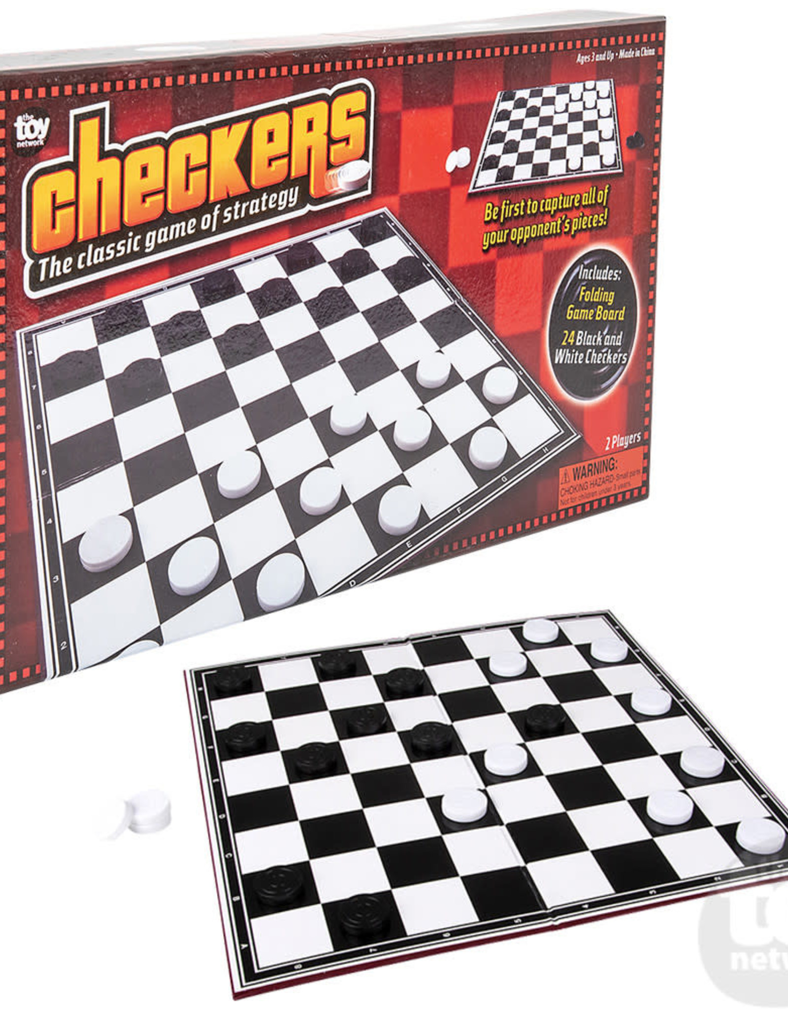 """The Toy Network 14"""" Checkers Set"""