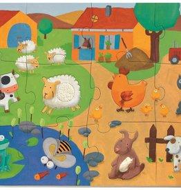 DJECO Tactile Farm Giant Floor Jigsaw Puzzle